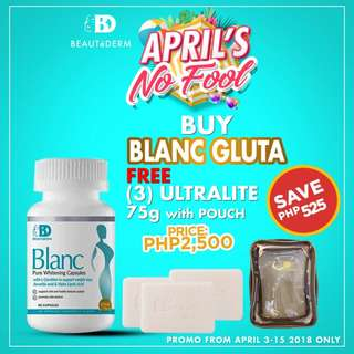 PROMO Beautederm Blanc FREE 3 Ultralite Soap 75g