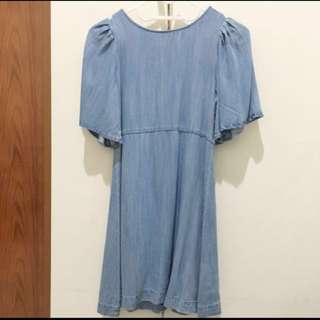 Denim dress pull & bear