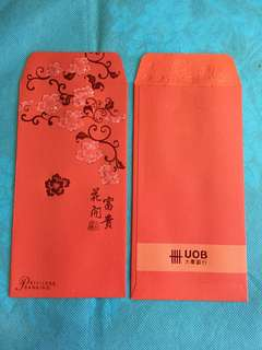 5 pcs Privilege Banking UOB Bank Red Packets