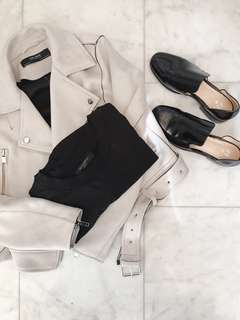 Zara Grey Suede Jacket