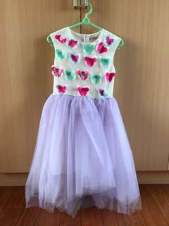 New Lovely girls' dress with 3d butterflies & tutu skirt