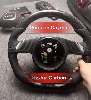 (Ready stock) Porsche Cayenne Carbon Steering