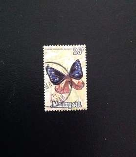 Malaysia 1970 National Butterflies Series 25c Used (0386)