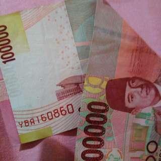 uang Rp100.000 tahun kelahiran 16.08.60