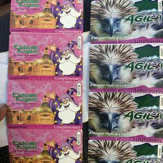 enchanted kingdom ticket with agila attraction