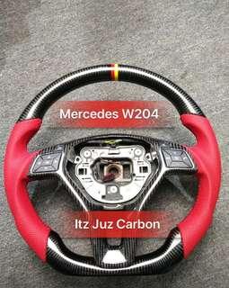 Mercedes W204 Carbon Steering
