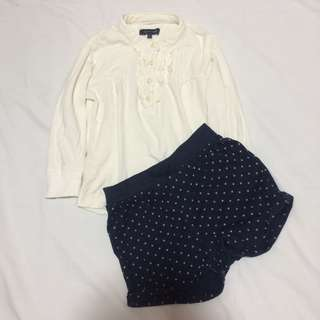 Authentic Tommy Hillfiger top and babyGap shorts