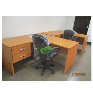 CUSTOMIZE L TYPE EXECUTIVE TABLE WITH DRAWER--KHOMI
