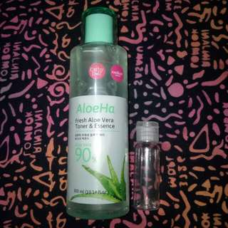 Cathy doll toner & essence 90% aloeHa (Share in bottle 20ml)