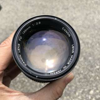 Canon FD 135mm 2.8 mint condition