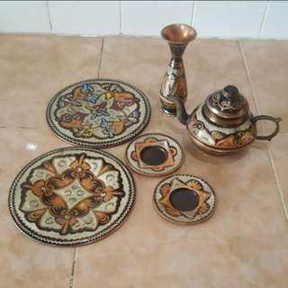 Copper decor set