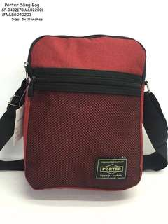 Porter sling bag size : 8*10 inches