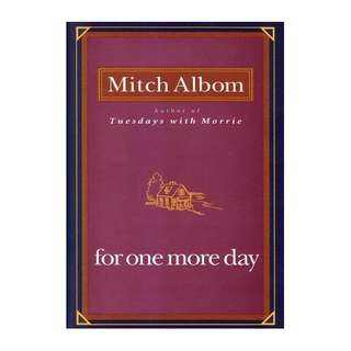 E-book English Novel - For One More Day by Mitch Albom