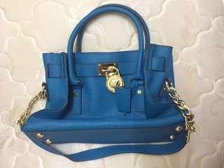 Michael Kors Hamilton Satchel (turquoise)