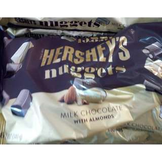 HERSHEY'S NUGGETS MILK CHOCOLATE WITH ALMONDS 34OG