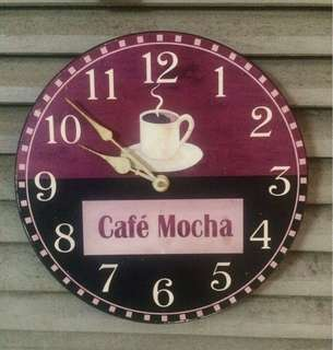 Vintage Wall Clock, Cafe Mocha, Size : 30cm Round