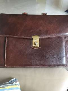 Full leather Furstenberg briefcase