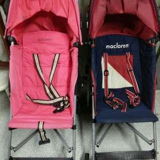 Maclaren Triumph stroller (Pink & Red Blue)