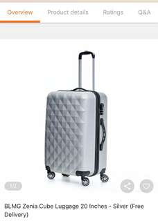 Zenia Cube Luggage 20 Inches Silver