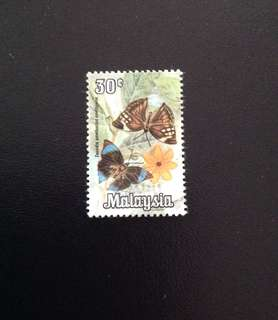 Malaysia 1970 Butterflies Series 30c Used (0386)