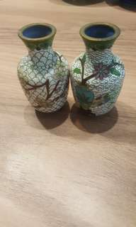 2 Small copper vase