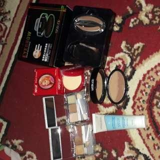 Eye shadow wardah, double function kit wardah, perfect bright wardah, cream kelly, eyebrow stamp alis
