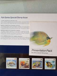 Singapore Stamps Fish series Presentation pack