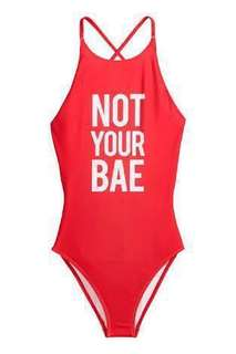 NOT YOUR BAE Red Swimsuit
