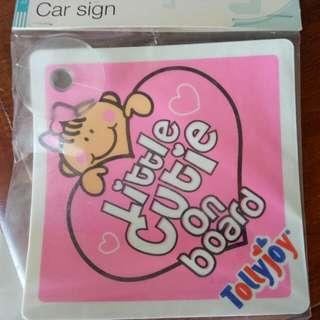 Baby Girl Car Sign