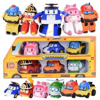 Little Robocar Poli Toy Set - GHR542  Per set contain 6 pcs  Size: as attach photo