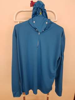 CLEARANCE SALE! BN Fishing Long Sleeve Top with Hood and Mask Blue