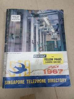1967 - Singapore Telephone & yellow pages Book Directory