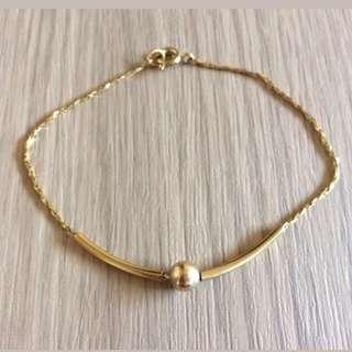 Vintage 80s Classy Gold Plated Bracelet