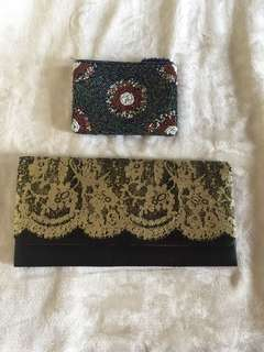 Clutch bag and wallet