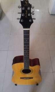 Greg Bennet D-5ce gitar akustik elektrik