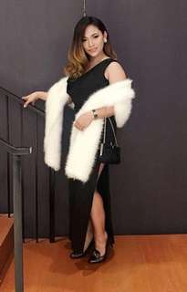 White luxury fur shawl for sale
