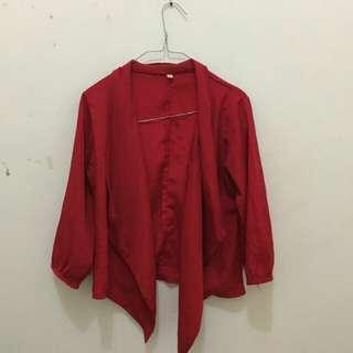 Blazer / Outer warna Merah