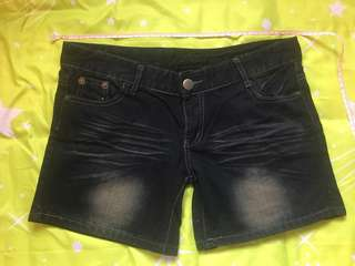 全新 黑色 牛仔短褲
