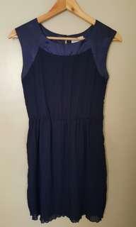 Cache cache pleated chiffon dress