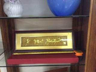 (UBT) Golden Plated 8Horses Frame