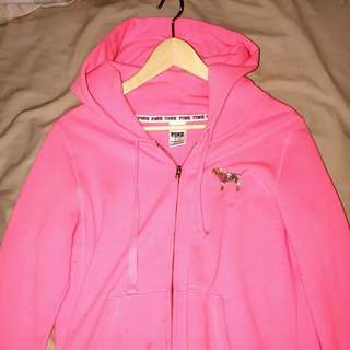 VS Pink Sequinned Zip Up Hoodie