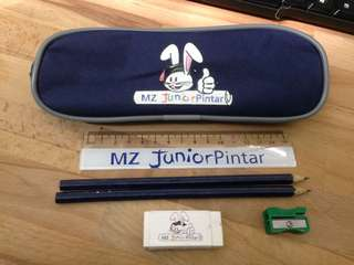 Pencil box with stationary