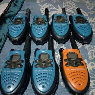 七隻無線電講機