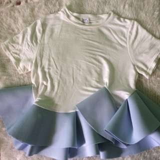 Tops: TH07 Pastel Blue and White Top