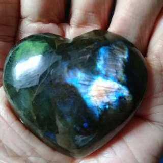 Labradorite Heart shape