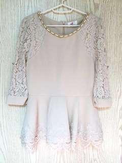 氣質Lace上衣(附上身圖)