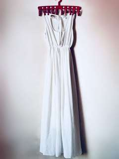 Off White Long Dress
