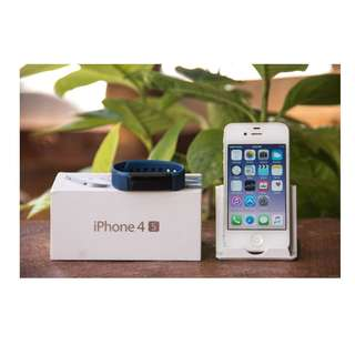 iPhone 4s 16gb factory unlocked with fitness wrist watch