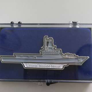 Littoral Mission Vessel Badge Collectible from the Navy Republic of Singapore