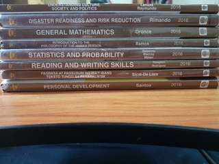 8 Book bundle for senior high for STEM AND NON STEM